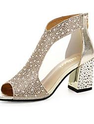 economico -Per donna Scarpe PU (Poliuretano) Primavera Comoda Sandali Piatto Oro / Argento