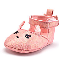 cheap -Kid's Girls' Shoes Fabric Glitter Spring Fall First Walkers Flats Hook & Loop for Wedding Casual Outdoor Party & Evening Dress Pink