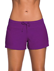 cheap -Women's Solid Solid Straped Bottoms Swimwear,Polyester Spandex Purple Light Blue