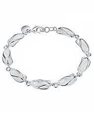 cheap -Women's Girls' Silver Plated Chain Bracelet - Vintage Friendship Fashion Geometric Silver Bracelet For Christmas Gifts Wedding Party