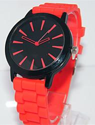 cheap -Women's Fashion Watch Quartz Silicone Band Casual Red Green Pink