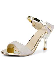 economico -Per donna Scarpe PU (Poliuretano) Primavera Estate Club Shoes Sandali A stiletto Punta tonda Più materiali per Matrimonio Ufficio e