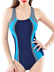 Womens Sexy Fashion  Sports  Striped Tummy Control One-piece Swimsuits(M-XL)