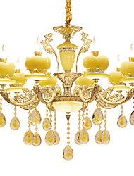 European Style Atmosphere Zinc Alloy Crystal Living Room Bedroom Home Chandelier A