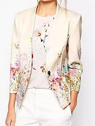 cheap -Women's Going out Blazer - Floral V Neck