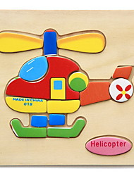 cheap -Educational Flash Cards Jigsaw Puzzle Wooden Puzzles Pegged Puzzles Educational Toy Toys Animals DIY Kid's Children's Kids 1 Pieces