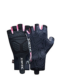 cheap -SANTIC Sports Gloves Bike Gloves / Cycling Gloves Wearable Breathable Terylene Elastane Cycling / Bike Women's