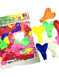 cheap -Balloons Toys Heart-Shaped Heart Inflatable Party Pearlised Thick Men's Women's Kid's Children's 100 Pieces