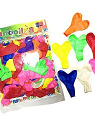 Недорогие -Воздушные шары Игрушки В форме сердца Сердце Надувной Для вечеринок Жемчужное покрытие Толстые Муж. Жен. Детские 100 Куски