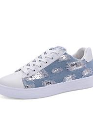 Women's Sneakers Spring Summer Comfort PU Denim Casual Sequin Walking