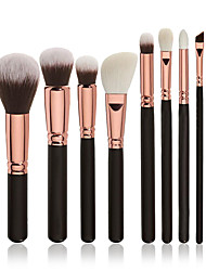 cheap -8pcs Professional Makeup Brushes Makeup Brush Set / Contour Brush / Foundation Brush Synthetic Hair Professional / Full Coverage Wood Eye