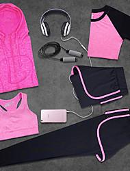 Per donna Tuta da ginnastica Indossabile Traspirante per Yoga Esercizi di fitness Corsa lyocell Tessuto in seta Taglia piccola Pink + Red