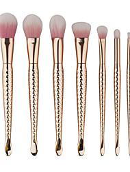 baratos -7pçs Pincéis de maquiagem Profissional Conjuntos de pincel / Pincel para Blush / Pincel para Sombra Pêlo Sintético Portátil /