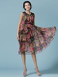 Die neue Marke Frauen&# 39; s Mode gedruckt Chiffon Kleid Sommerkleid böhmischen Specials