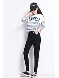 segno # invernali nuovi neri jeans grigio harem femminile dei pantaloni carota vita libera