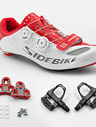 cheap -BOODUN/SIDEBIKE® Sneakers Road Bike Shoes With Pedal & Cleats Unisex Cushioning Outdoor Road Bike PU Rubber Cycling