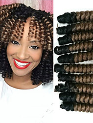 cheap -Bouncy Curl Synthetic ombre braiding hair braids kanakalon crochet braids bouncy curly saniya curls 20roots/pack 5packsmakehead