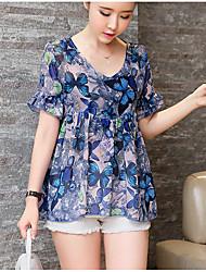 Spot d'été nouvelle mode coréenne en vrac manches en mousseline de soie en deux pièces chemise à manches courtes noires sans merci