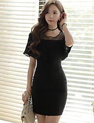 haut de gamme sur mesure 2016 été nouvelle femme coréenne sexy perspective paquet pression épissage plissé robe de la hanche