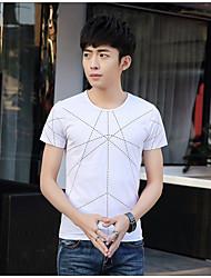 M T-Shirt Kurzhülse Baumwollsommermänner&# 39; s runden Hals Polka Dot Druck schlanke Mitleid Männer&# 39; s Kurzarm T-Shirt