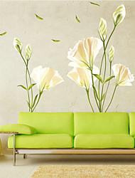 abordables -Romance Floral Botanique Stickers muraux Autocollants avion Autocollants muraux décoratifs, Vinyle Décoration d'intérieur Calque Mural