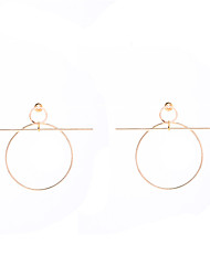 Hoop Earrings Dangle Earrings Jewelry Copper Circular Dangling Style Pendant Circle Fashion Vintage Euramerican Statement Jewelry Round
