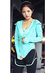 Women's Tracksuit Short Sleeves Breathable Sweat-wicking Sports Bra Sweatshirt Hoodie Tights Top Clothing Suits for Yoga Exercise &
