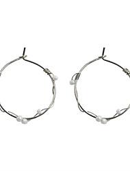 cheap -Women's Drop Earrings Circular Pearl Fashion Euramerican Pearl Alloy Circle Geometric Jewelry For Wedding Party Daily Casual Sports