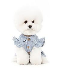 Dog Dress Dog Clothes Cute Fashion Stripe Blue