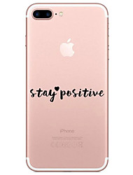 Per iPhone X iPhone 8 Custodie cover Transparente Fantasia/disegno Custodia posteriore Custodia Frasi famose Morbido TPU per Apple iPhone