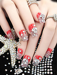 cheap -24 nail art Full Nail Tips Classic High Quality Daily