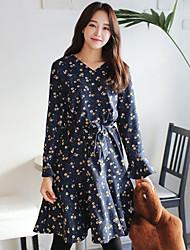 Corea nuovi elementi spring waist con scollo a V era vestito sottile