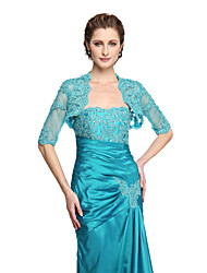 cheap -Lace Wedding Party Evening Women's Wrap With Beading Appliques Shrugs