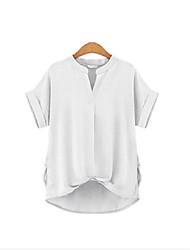 European leg fat MM favorite solid color loose short-sleeved T-shirt large size women