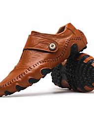 Недорогие -Муж. Обувь для вождения Кожа Осень / Зима Мокасины и Свитер Черный / Коричневый