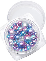 cheap -1PC Japan And South Korea Nail Art Act The Role Ofing is Tasted 7 Colour Circular Pearl Mixed Color More Specifications Mixed 1 Box 40 Star Or So