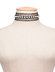 cheap -Women's Others Personalized Unique Design Imitation Pearl Fashion Euramerican European Choker Necklace Imitation Pearl Obsidian Pearl
