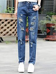 знак отверстие краска весной талии джинсы женщина студент был тонкий большой ярдов личности нищий штаны дикий
