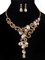 cheap -Women's Crystal Jewelry Set - Crystal, Rhinestone Flower Personalized, Fashion, Euramerican Include Gold / Silver / Gray For Wedding / Party / Special Occasion / Necklace