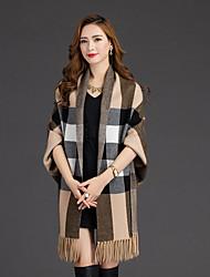 cheap -Women's Cloak / Capes - Check Off Shoulder