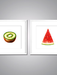 Framed Canvas Print Still Life Food Modern Realism,Two Panels Canvas Square Print Wall Decor For Home Decoration