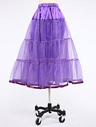 Déshabillés Robe de soirée longue Genou 2 Satin Tulle Blanc Noir Violet Rouge