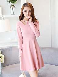 Sinal 2017 primavera novo coreano vestido oco