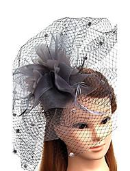 Tule Pena Rede Fascinador Chapéus Véus de Rede Capacete