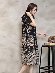 2017 novas mulheres&# 39; s nacional dragão vento chinesa de algodão placa colarinho botões fino vestido cardigan de manga curta