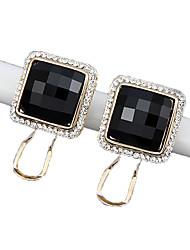 ieftine -Dame Cercei Stud Obsidian Geometric Zirconiu Bijuterii Pentru Nuntă Petrecere Zilnic