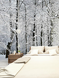cheap -Art Deco Wallpaper For Home Wall Covering Canvas Adhesive Required Mural Colored Ice and Snow World Background XXXL(448*280cm)