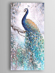 cheap -Hand-Painted Animals Vertical, Modern Canvas Oil Painting Home Decoration One Panel