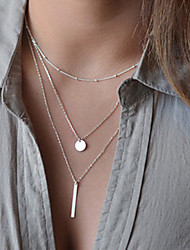 cheap -Women's Geometric Dangling Style Choker Necklace Pendant Necklace Layered Necklace Jewelry Alloy Choker Necklace Pendant Necklace Layered