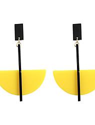 cheap -Women's Drop Earrings - Geometric, Fashion, Euramerican Yellow / Brown / Green For Wedding / Party / Daily
